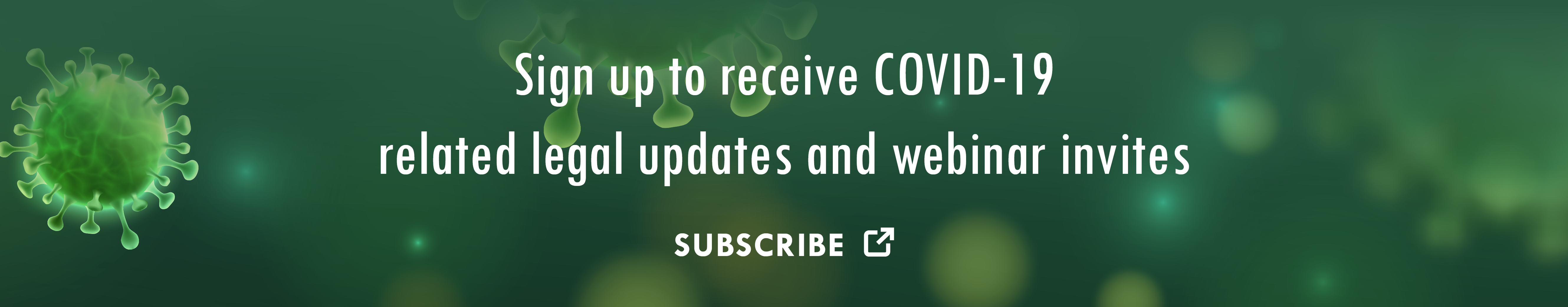 Sign up to receive COVID-19 updates and webinar invites