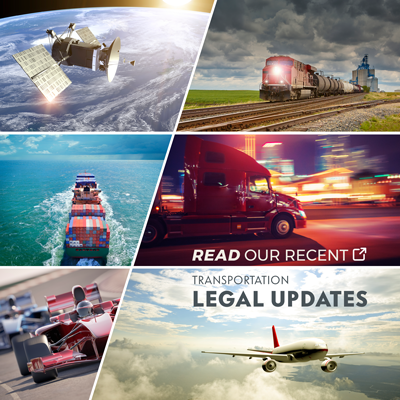 Read our Recent Transportation Legal Updates