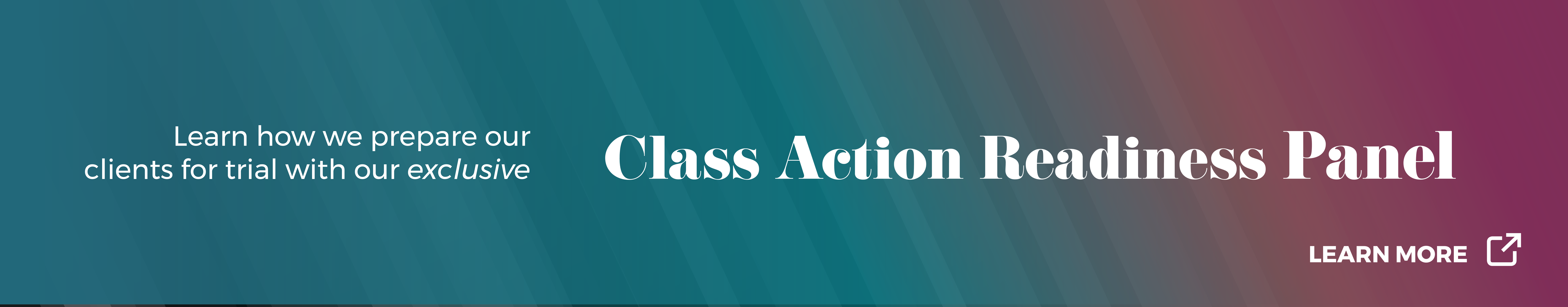 Class Action Readiness Panel